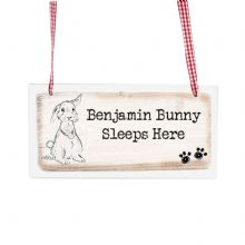 Rabbit Wooden Sign